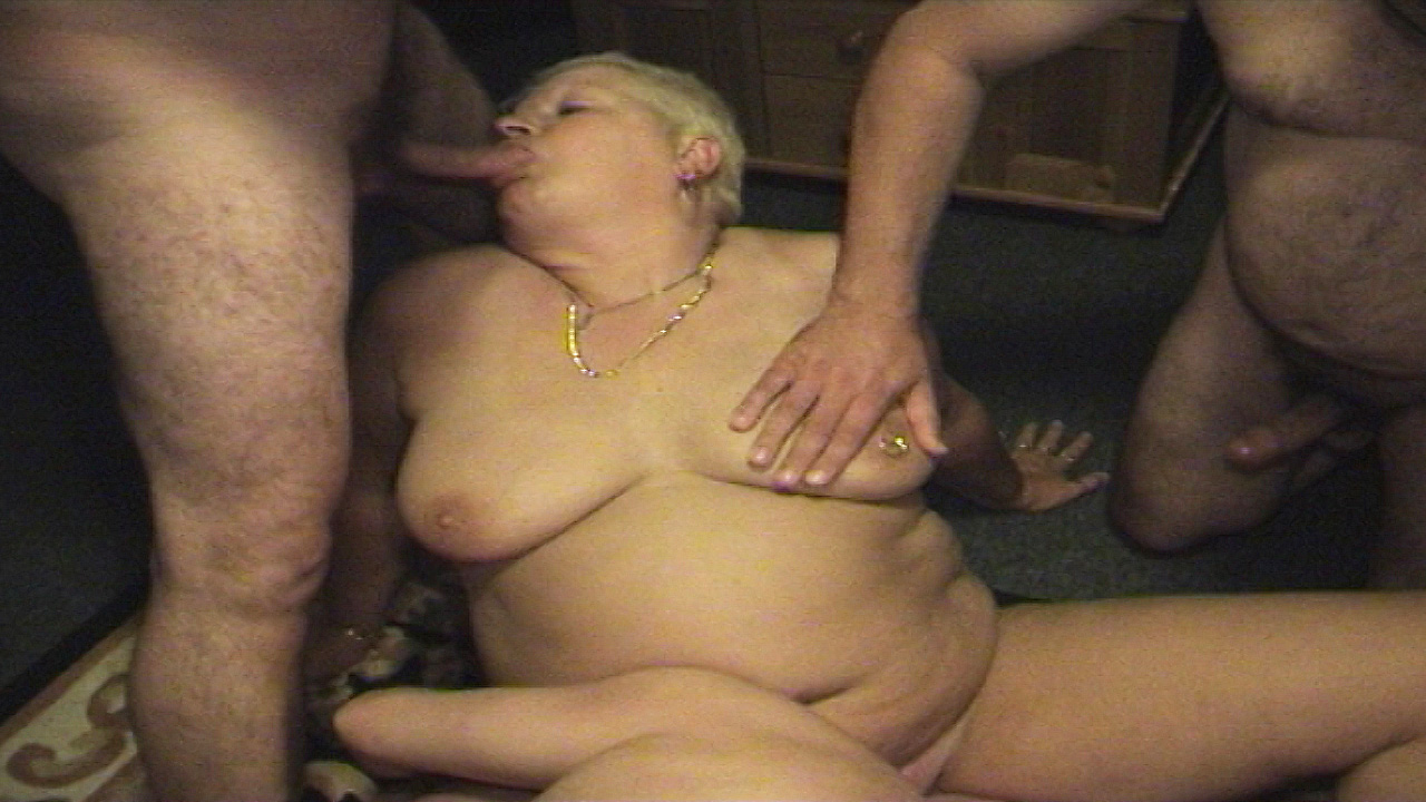 Old Brenda has an amateur swinging party at home
